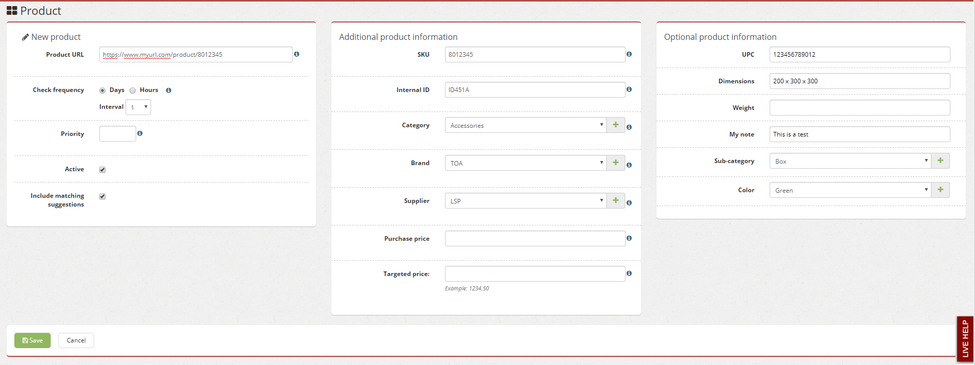 Adding product with new fields