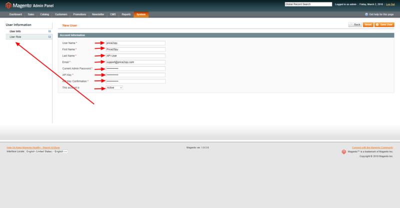 Magento 1.x - integrating with Price2Spy