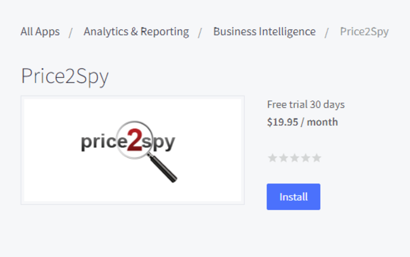 BigCommerce - integrating with Price2Spy