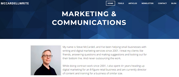 Steve McCardell – USA (www.mccardellwrite.com)