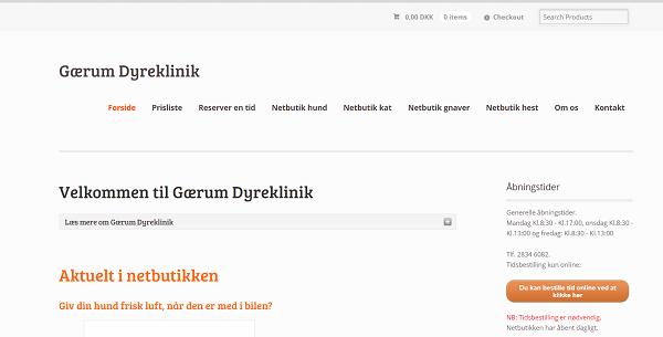 Gaerum-Dyreklinik – Denmark (www.gaerum-dyreklinik.dk)