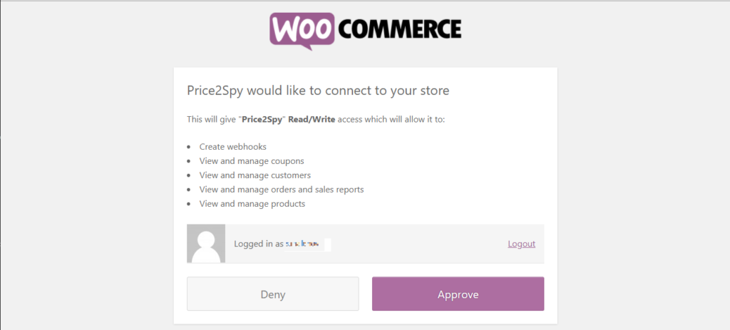 WooCommerce - integrating with Price2Spy